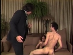 Nikki Charm's holes plowed by a couple of randy stallions