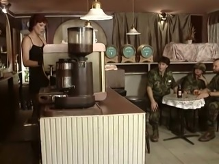Sweet and beautiful young soldier girl is hungry for a dick