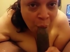 Extremely nasty fat lady pleases me with fantastic blowjob