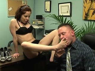 Hot secretary is office slut