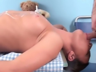 Tight Little Teen Devours a Cock in the kitchen