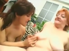 Ester and her slutty friend are more than eager to fuck this lucky man