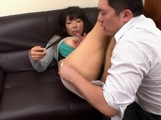big breasted japanese lady gets her cunt licked