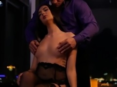 Romantic sexy looking babe Marley Brinx doesn't mind getting holes drilled