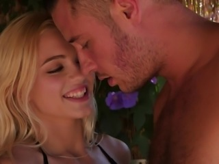 Alex Grey seduces a handsome guy for a fuck at a beach