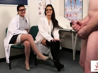 Spex voyeur nurses giving tugging instruction