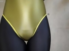 zentai girl vibrating