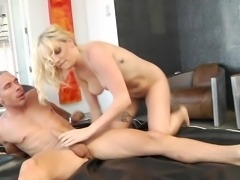 Look at how wide her asshole is spread. This naughty blonde babe takes it...