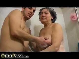 OmaPasS Homemade Lusty Granny Sexual Experience