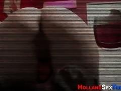 dutch hooker rides cock