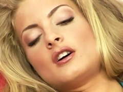 Cayenne opens her legs for a massive glass sex toy