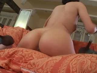 Naked babe Victoria Rose plows her pussy with a sex toy