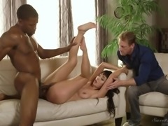 Marica Hase fucks a black guy in front of a handsome lover