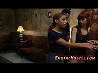 Slave first time He chains up little black teenager Kendall and makes