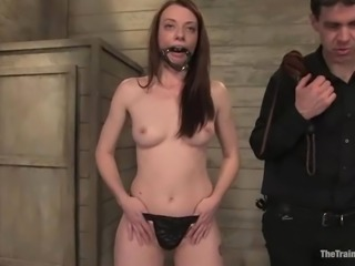 Amber Keen gets her mouth and vag brutally fucked by Maestro