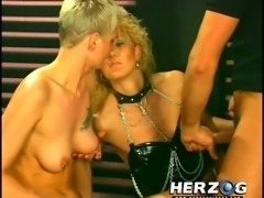 Two vintage blonde white sluts bonedand jizzed with cum