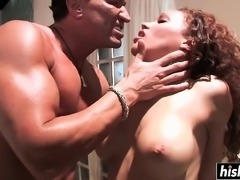 Busty slut gets fucked really hard