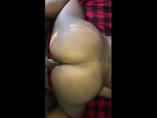 thicc jamaican milf gettin her groove bacc