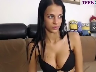 This beautiful brunette causes spontaneous erections without even trying