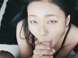 Sloppy wet blowjob by naughy Asian girl