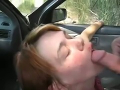 Compilation video with amateur bitches giving heads in a car