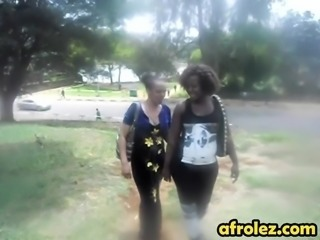 Lonely lesbians have found each other on the street and figured to try their juicy pussies