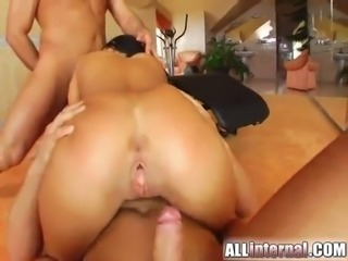 threesome sex with the cock thirsty brunette cynthia l