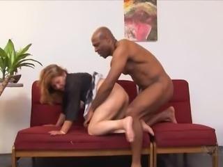 Matured Lorita pleasured with monster cock hardcore