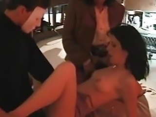 Mysterious backstage masked sex