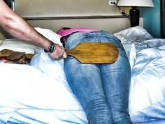 Tough Girl Gets Paddled - (Spanking)
