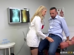 Julia Ann attacks a handsome guy for an amazing dick ride