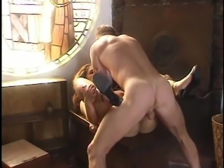 Seductive nice ass model banged hardcore after getting preached