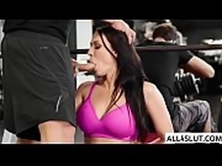 Rachel gets fucked by Ramon in the gym - ALL4SLUT.COM