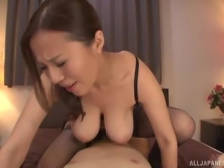 Saijou Ruri is a hot woman with big tits who loves riding a boner