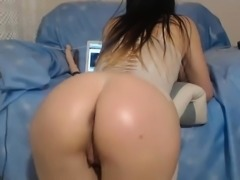 Homemade Anal dildo solo webcam act