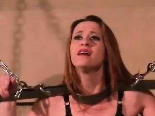 BDSM babe in hard fetish games