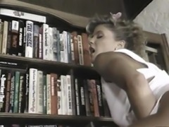 Sexy Ginger Lynn juicy pussy refined hardcore in the library