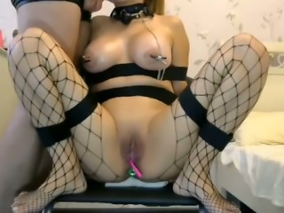 This webcam slut loves giving head and she loves having a ball gag in her mouth