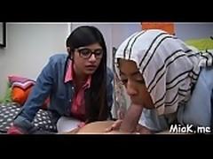 Doggy-style fuck for an arab gal