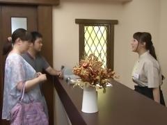 Marina Shiraishi enjoys bending over for swollen boners
