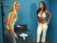 Amateur awsome busty blonde striptease