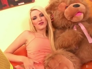 Cherry Jul's holes penetrated with a couple of huge boners