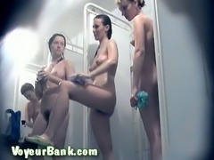 Some of the amateur ladies in public shower room are really hot