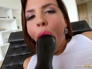 keisha grey lets him shove large butt plug into her rectum