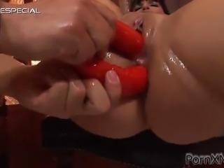 katja black is masturbated before she's fucked hard