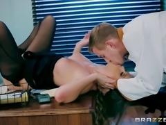 horny waitress alexis adams sucking cook's monster cock