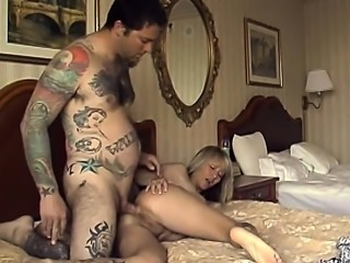 Gorgeous Amateur Blonde Gets Pounded With A Tattooed Guy