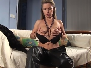 Gorgeous Sarah K spreads her legs for a formidable masturbation