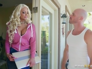 Nicolette Shea bends over for a sex session with a horny lover