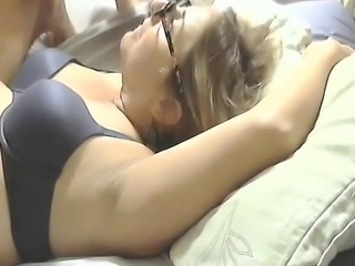 Blowjob and facial actions on webcam